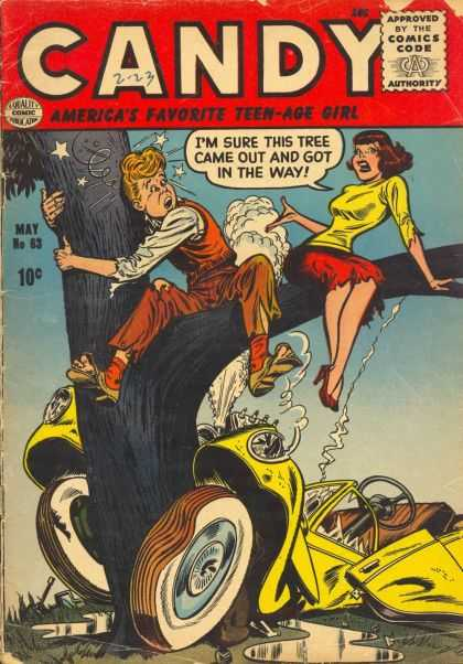 Candy 63 - Tree - Crash - Automobile - Accident - Torn Clothing