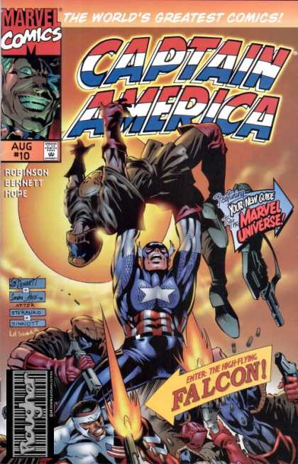 Captain America (1996) 10 - Marvel Comics - Your New Guide Marvel Universe - The Worlds Greatest Comics - Enter The Highflying Falcon - Robinson