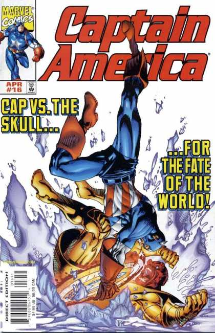 Captain America (1998) 16 - Skull - Fate - World - Fight - Struggle - Andy Kubert