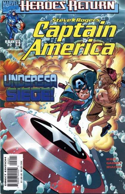 Captain America (1998) 2 - Steve - Rogers - Marvel Comics - Feb 2 - Under Seige - Ron Garney