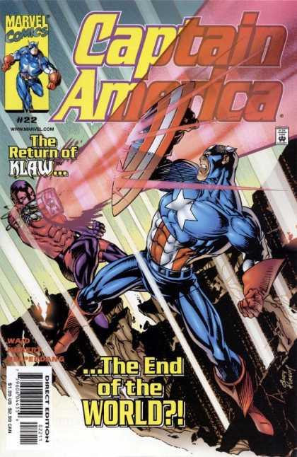Captain America (1998) 22 - Marvel Comics - The Return Of Klaw - The End Of The World - Wwwmarvelcom - Direct Edition - Andy Kubert