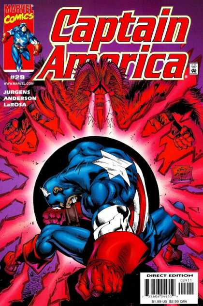 Captain America (1998) 29 - Muscle Man - Star - Blast - Red - Light - Andy Kubert