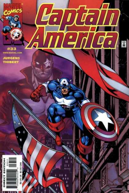 Captain America (1998) 33 - 33 - Jurgens - Thibert - Flagpost - Shield - Dan Jurgens