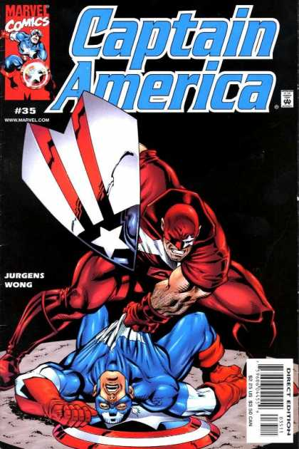 Captain America (1998) 35 - Marvel Comics - Shield - Jurgens Wong - Superhero - Direct Edition - Dan Jurgens