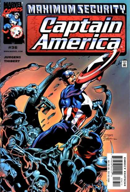 Captain America (1998) 36 - Marvel - Marvel Comcis - Captain America - Maximum Security - Captain America Fight - Dan Jurgens