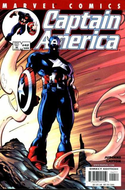 Captain America (1998) 42 - Marvel - Smoke - Shield - Super Hero - Star - Dan Jurgens