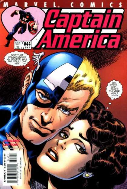 Captain America (1998) 44 - Marvel Comics - Superhero - Shield - Woman - Direct Edition - Dan Jurgens