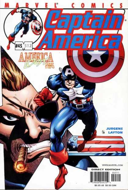 Captain America (1998) 45 - Captain America - Marvel Comics - 45 - America Lost - Part 1 Of 4 - Dan Jurgens
