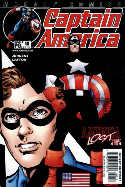 Captain America (1998) 48 - Jurgens And Layton - America Lost - Captain America Is In The Dark - Confidence On The Face Of Captain America - Captain America Staying Strong - Dan Jurgens