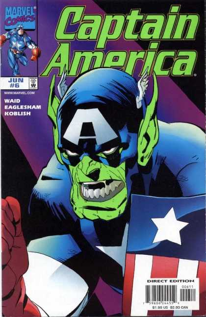 Captain America (1998) 6 - Marvel Comics - Shield - Direct Edition - Waid - Eaglesham - Ron Garney