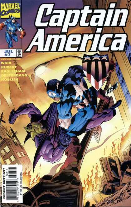 Captain America (1998) 7 - Marvel Comics - Waid - Kubert - Eaglesham - Superhero - Andy Kubert