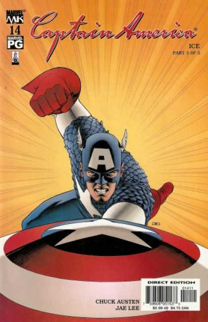 Captain America (2002) 14 - Super Hero - Marvel Comics - Punch - Fly - Chuck Austen - John Cassaday