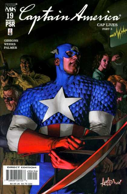 Captain America (2002) 19 - 19 Marvel Psr - Gibbons Weeks Palmer - Cap Lives Part 3 - Realistic Artwork - Dark - Gene Ha
