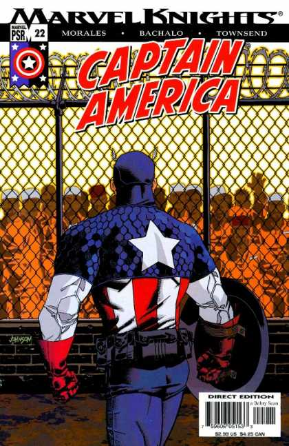 Captain America (2002) 22 - Marvel Knights - Superhero - Shield - Direct Edition - Prisoners