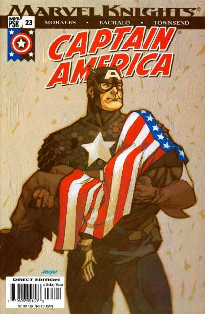 Captain America (2002) 23 - Marvel Knights - Flag - Dead Soldier - Direct Edition - Patriotic