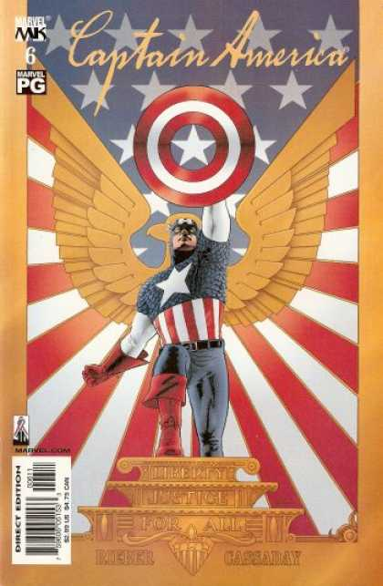 Captain America (2002) 6 - Eagle - Stars - Stripes - Podium - Shield - John Cassaday