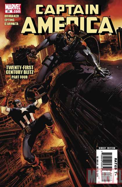 Captain America (2004) 21 - Machines - Robots - War - Man - Falling