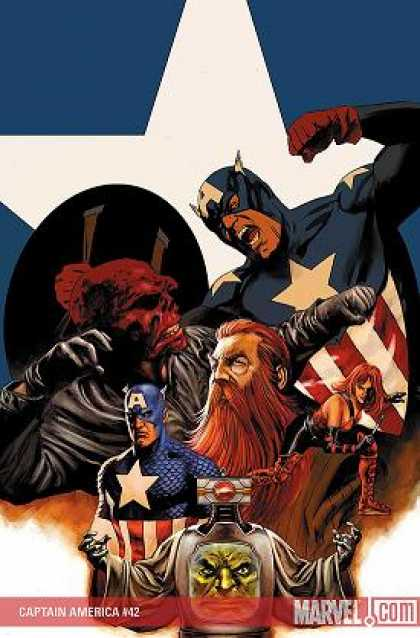 Captain America (2004) 42 - Marvel - Redhead - Beard - Mustache - Star