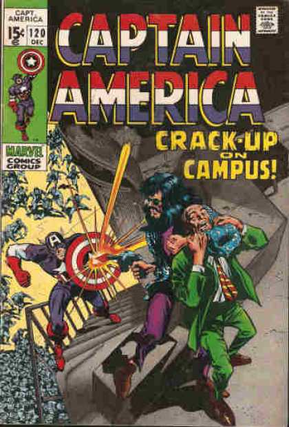 Captain America 120 - Shield - Gunshot - Richocet Bullet - Hostage - Rescue - Gene Colan