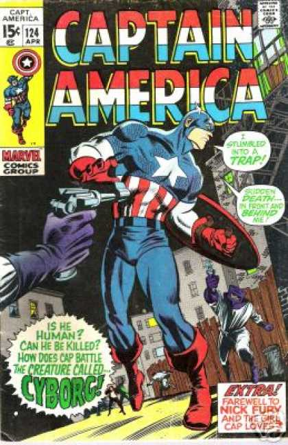 Captain America 124 - Valuable - Sunday-fun Day - Villains - Haapy Hours - Divine - Gene Colan
