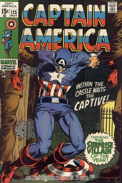 Captain America 125 - Marvel Comics Group - Comics Code - Superhero - Within The Castle Waits The Captive - Surprise Villain - Gene Colan
