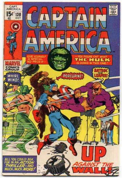 Captain America 130 - Up Against The Wall - Why Is The Hulk In This Issue - Different Action Men - Filming Violence - Give Yourself A Special Prize