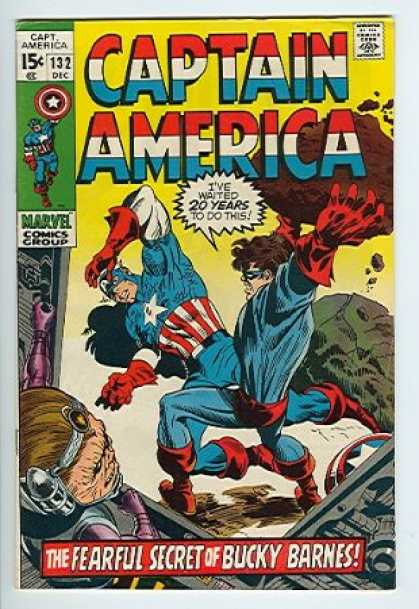 Captain America 132 - 15c - 132 - Dec - Marvel - Red White Blue - Gene Colan