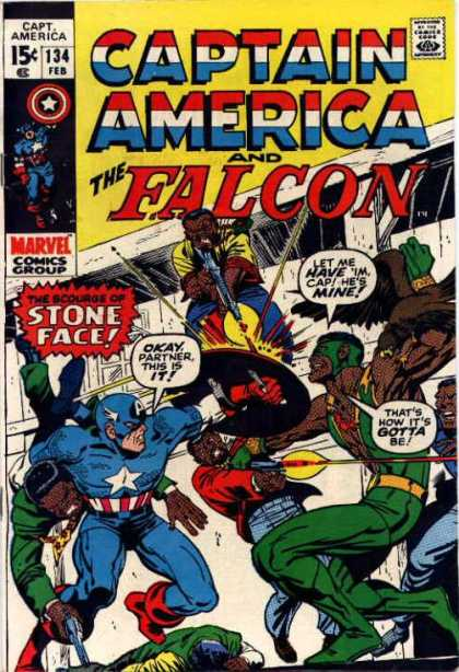 Captain America 134 - Partner - The Falcon - Stone Face - Heros - Marvel