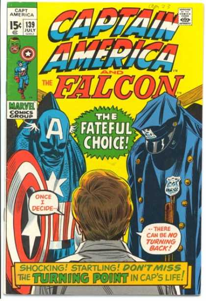 Captain America 139 - Marvel Comics - Shocking - No Turning Back - Caps Life - Deciding