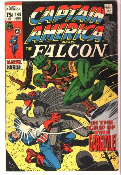 Captain America 140 - The Falcon - The Gargoyle - 140 - In The Grip Of The Gargoyle - Jr