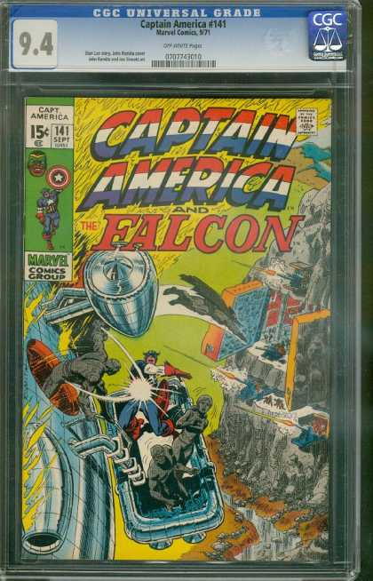 Captain America 141 - Helicopter - Mountain - Lift - Morvel Comics Group - Head Of Americ