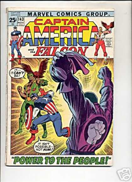 Captain America 143 - Power To The People - Fist - Bird - Green - Purple