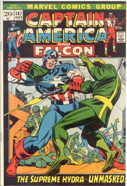 Captain America 147 - Captain America - Falcon - Supreme Hydra - Marvel - Fighting