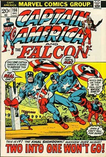 Captain America 156 - Marvel Comics Group - Approved By The Comics Code Authority - 156 Dec - The Real One - The Falcon