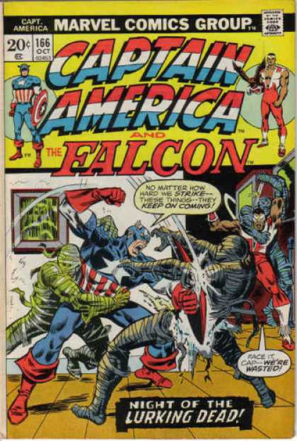 Captain America 166 - The Falcon - Night Of The Lurking Dead - Mummies - Undead - Fight