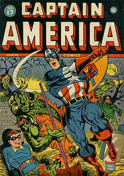 Captain America 17 - Cemetry - Shield - Winged Mask - Undead - Tombstones - Steve Epting
