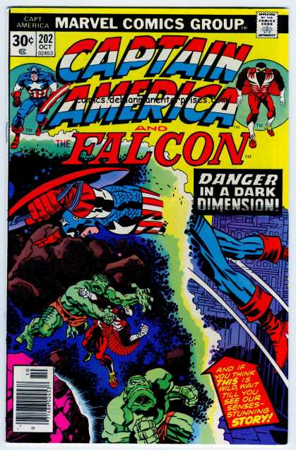 Captain America 202 - Powerful - Vengeful - Victorious - Warrior - Peril - Jack Kirby