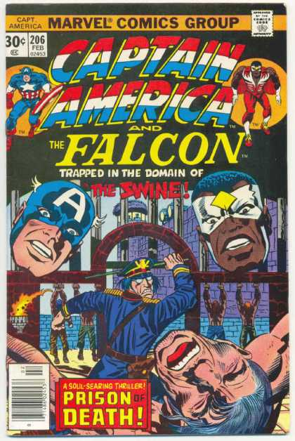 Captain America 206 - Heroes - Falcon - America - Battle - Swine - Jack Kirby