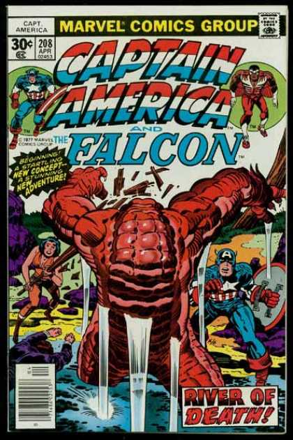 Captain America 208 - Falcon - River Of Death - Marvel - Adventure - Heroes - Jack Kirby