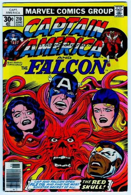 Captain America 210 - The Falcon - The Red Skull - 210 June - File 116 - A Mask - Jack Kirby