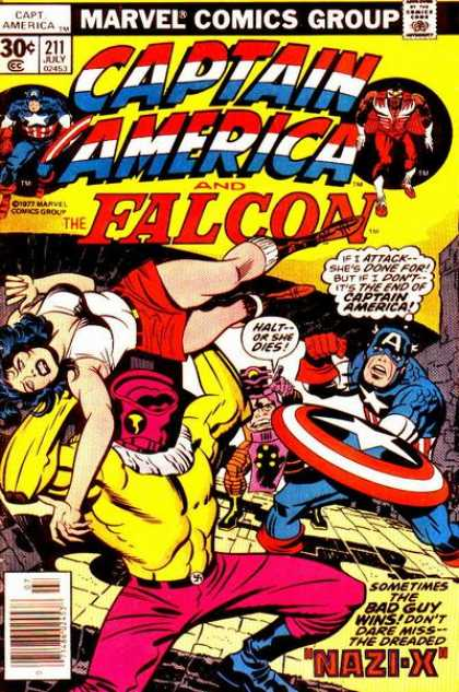 Captain America 211 - Marvel - Comics - Falcon - Nazi X - Retro - Jack Kirby