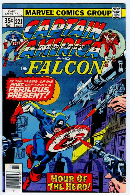 Captain America 221 - Marvel Comics - Comics Code Authority - Superhero - Gun - Weapon