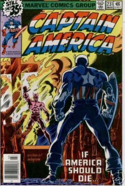 Captain America 231 - Captain America - If America Should Die - Buring Cross - Flames - Villan