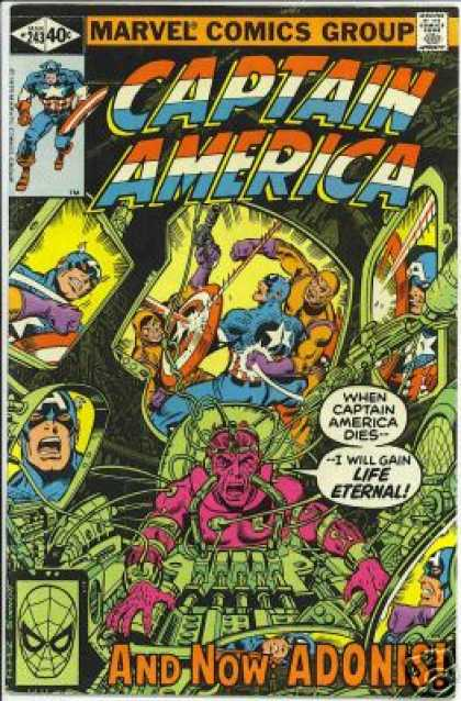 Captain America 243 - Marvel - Marvel Comics - Adonis - Death - Fight - George Perez