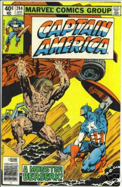 Captain America 244 - Captain America - Lifting A Car - Going Berserk - Fight In The Lumberyard - Crushed Truck - Frank Miller