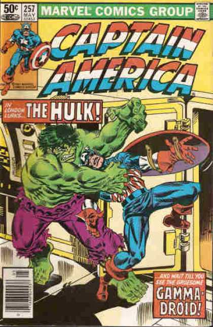 Captain America 257 - Captain America - Green Man - Fists - Super Man - Door