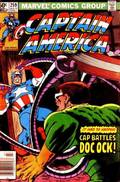 Captain America 259 - Purple Arms - Arms At Head - Green - White Glasses - Against Post