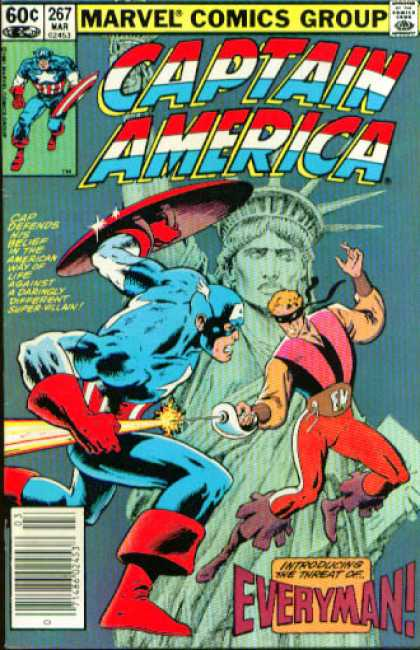 Captain America 267 - Captain America - 267 March - Statue Of Liberty - Shield - Sword
