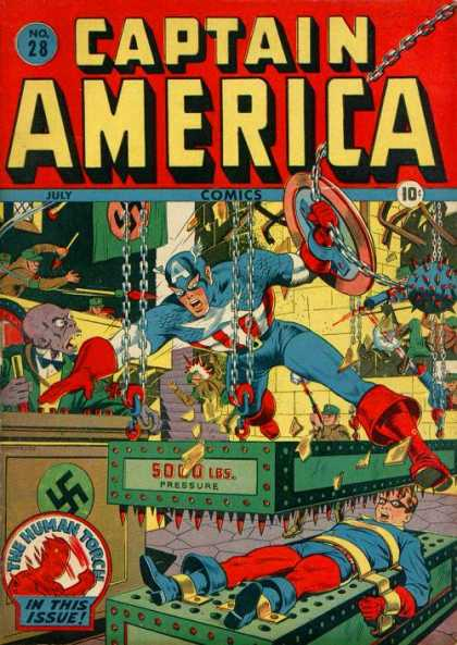 Captain America 28 - Captain America - Swastika - Nazi - Bed Of Nails - Solo Pressure - Steve Epting