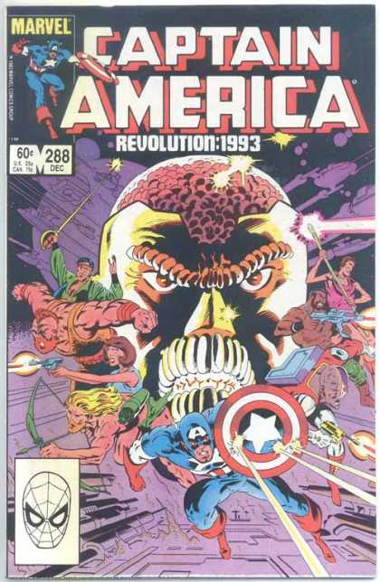 Captain America 288 - Revolution1993 - Action - Science Fiction - Alien - Marvel